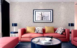 Оформление стен гостиной и зала жидкими обоями: советы дизайнеров