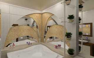 Отделка ванной комнаты жидкими обоями