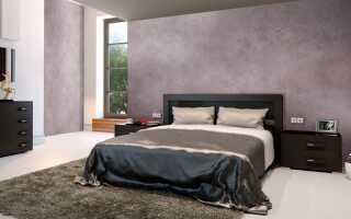 Отделка спальни декоративной штукатуркой