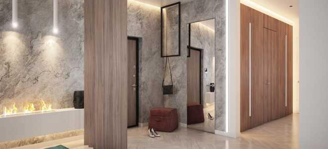 Декоративная штукатурка в прихожей и коридоре