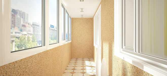 Отделка балкона и лоджии декоративной штукатуркой
