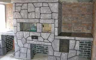 Отделка печей и каминов декоративной штукатуркой: как и чем наносить
