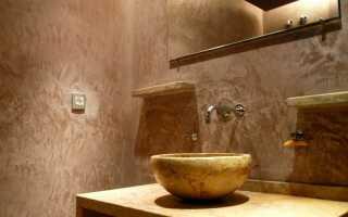 Влагостойкая декоративная штукатурка в ванной комнате: идеи отделки и особенности