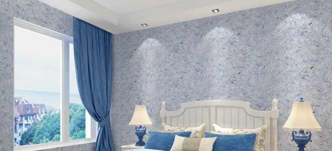 Оформление стен спальни жидкими обоями: дизайн интерьера