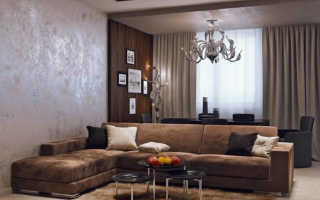 Декоративная штукатурка в интерьере гостинной и зала: идеи дизайна и фото