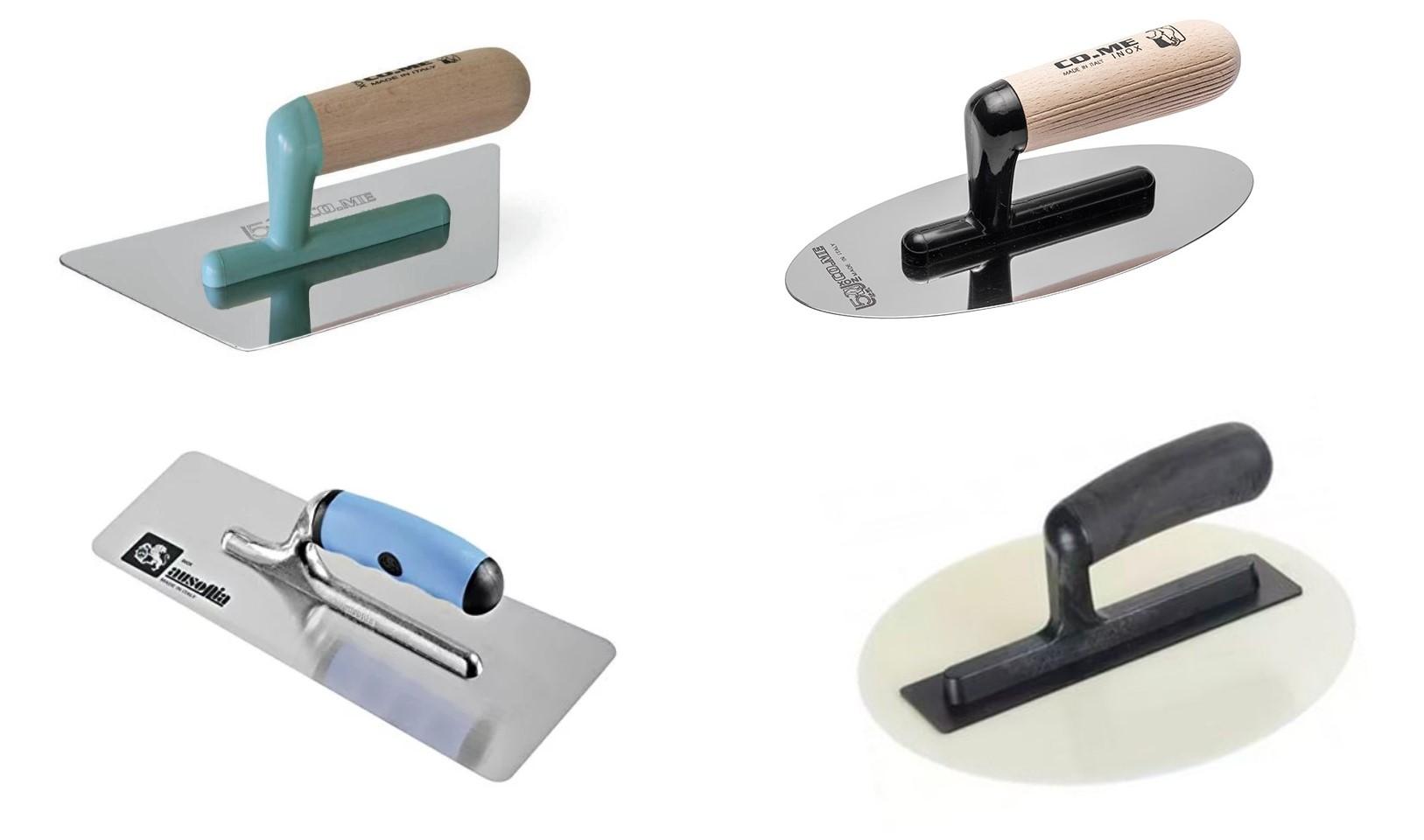 Кельмы разной формы для работы с декоративной штукатуркой