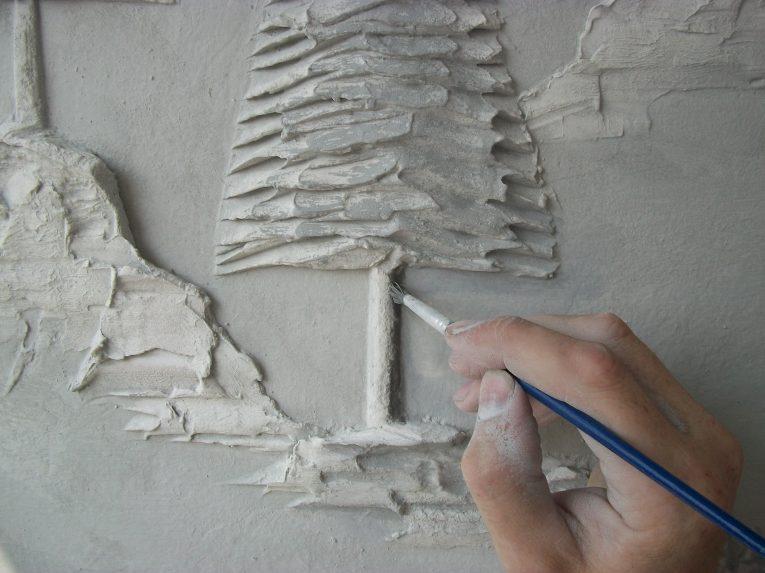 Создание фактурного рисунка на стене